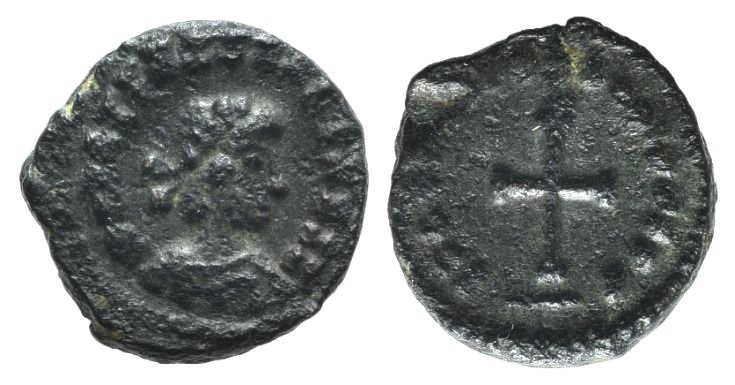 World Coins - Vandals, under Gaiseric or Huneric, c. 5th- 6th century. AE 9mm