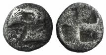 Ancient Coins - Aeolis, Kyme, c. 450-400 BC. AR Hemiobol. Head of eagle