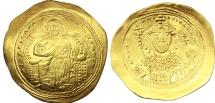Ancient Coins - Constantine IX Monomachus. 1042-1055. AV Histamenon Nomisma