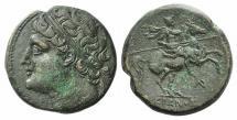 Ancient Coins - SICILY, Syracuse. Hieron II. 275-215 BC. Æ Hemilitron. Struck circa 230-218/5 BC.