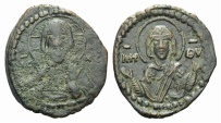 Ancient Coins - Anonymous Folles. temp. Romanus IV, circa 1068-1071. Æ Follis. Class G. Constantinople mint.