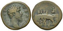 Ancient Coins - Divus Lucius Verus (died AD 169), Sestertius, Rome, AD 169. AE