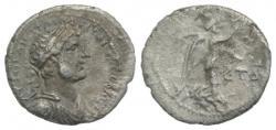 Ancient Coins - Hadrian (117-138). Cappadocia, Caesaraea-Eusebia. AR Hemidrachm, AD 120/1 R/ NIKE