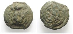 Ancient Coins - ROME REPUBLIC Anonymous, Rome, c. 230 BC. Cast Æ Sextans. Tortoise R/ Wheel