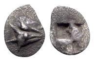Ancient Coins - Mysia, Kyzikos, c. 500 BC. AR Hemiobol