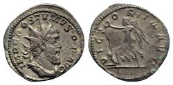 Ancient Coins - Postumus (260-269). AR Antoninianus - Treveri - R/ Victory