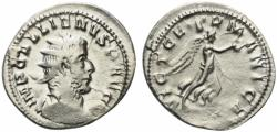 Ancient Coins - Gallienus (253-268). AR Antoninianus. Colonia Agrippinensis. R/ VICTORY