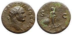 Ancient Coins - Vespasian (69-79). Æ Dupondius - Lugdunum - R/ Victory