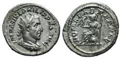 Ancient Coins - Philip I (244-249). AR Antoninianus R/ ROMA SEATED