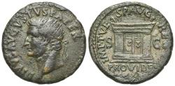 Ancient Coins - Divus Augustus (died AD 14). Æ As 28mm. Rome, 80-1. R/ Altar with double paneled door