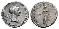 Ancient Coins - Trajan (98-117). AR Denarius - R/ Genius