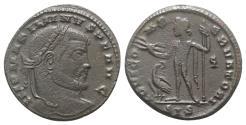 Ancient Coins - Maximinus II (310-313). Æ Follis. Siscia, AD 312.  R/ Jupiter