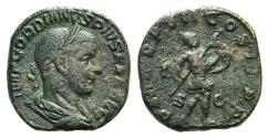 Ancient Coins - Gordian III. AD 238-244. Æ Sestertius. Rome mint, 6th officina. 13th emission, AD 244. R / MARS