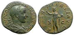 Ancient Coins - Gordian III (238-244). Æ Sestertius - Rome - R/ Sol
