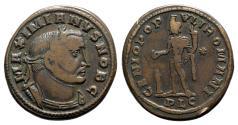 Ancient Coins - Galerius (Caesar, 293-305). Æ Follis - Lugdunum - R/ Genius