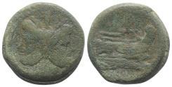 Ancient Coins - ROME REPUBLIC Anonymous, Rome, after 211 BC. Æ As  Janus / Prow