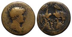 Ancient Coins - Hadrian (117-138). Phoenicia, Berytus. Æ Dichalkon - R/ Aquilae