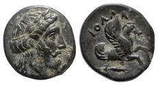 Ancient Coins - Mysia, Iolla, 4th century BC. Æ - Zeus / Pegasos