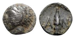 Ancient Coins - Lesbos, Antissa, 4th-3rd century BC. Æ - Herakles / Club - RARE