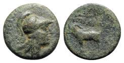 Ancient Coins - Cilicia, Aigeai, c. 1st century BC. Æ - Athena / Goat