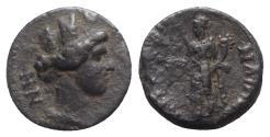 Ancient Coins - Ionia, Smyrna. Pseudo-autonomous issue, time of Marcus Aurelius (161-180). Æ - Cybele Sipylene / Homonoia (or Tyche?)