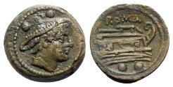 Ancient Coins - Roman Republic - Anonymous, Rome, after 211 BC. Æ Sextans