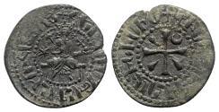 Ancient Coins - Cilician Armenia, Hetoum I (1226-1270). Æ Kardez (25mm, 4.95g, 9h). Sis mint.