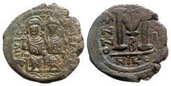 Ancient Coins - Justin II and Sophia (565-578). Æ 40 Nummi - Nicomedia, year 11