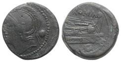Ancient Coins - ROME REPUBLIC Anonymous, Rome, c. 217-215 BC. Æ Uncia