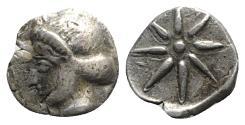 Ancient Coins - Korkyra, c. 433/2-375/60 BC. AR Hemidrachm. R/ Star VERY RARE