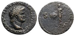 Ancient Coins - Nero (54-68). Æ As - Lugdunum - R/ Victory flying