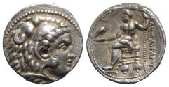 Ancient Coins - Ptolemaic Kings of Egypt, Ptolemy I (Satrap, 323-305 BC). AR Tetradrachm. In the name and types of Alexander III of Macedon, Tyre, year 34 of King Azemilkos (316/5 BC)