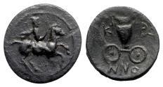 Ancient Coins - Thessaly, Krannon, c. 350-300 BC. Æ Dichalkon