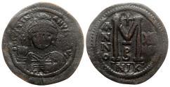 Ancient Coins - Justinian I (527-565). Æ 40 Nummi - Nicomedia, year 12