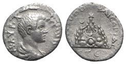 Ancient Coins - Caracalla (Caesar, 196-198). Cappadocia, Caesarea-Eusebia. AR Drachm, AD 196/7.  R/ Mt. Argaeus