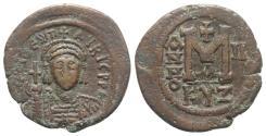 Ancient Coins - Maurice Tiberius (582-602). Æ 40 Nummi - Follis. Cyzicus, year 2 (583/4).