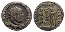 Ancient Coins - Galerius (305-311). Æ Radiate - Cyzicus