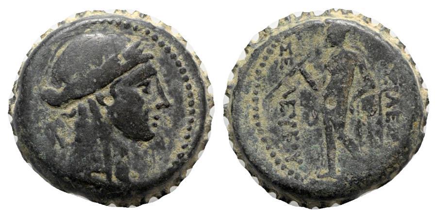 Ancient Coins - Seleukid Kings, Seleukos IV (187-175 BC). Serrate Æ - Antioch - R/ Apollo