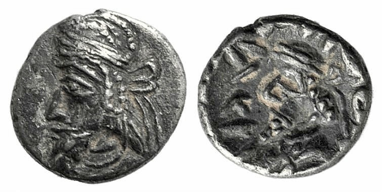 Ancient Coins - Kings of Persis. Kapat (Napad) (mid-late 1st century AD). AR Obol