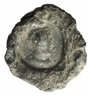 Ancient Coins - Egypt, Antinoöpolis area, c. 2nd-3rd century. PB Seal. Bust of Antinous