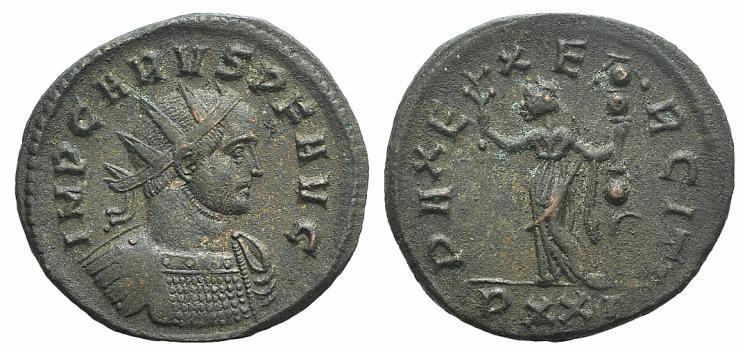 Ancient Coins - Carus (282-283). Radiate. Ticinum, 282.  R/ Pax