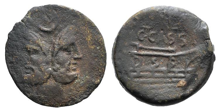 Ancient Coins - Rome Republic C. Cassius Longinus and L. Salinator, Rome, 84 BC. AE As
