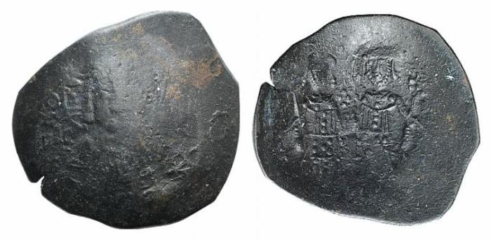 Ancient Coins - Alexius III (1195-1204). BI Aspron Trachy