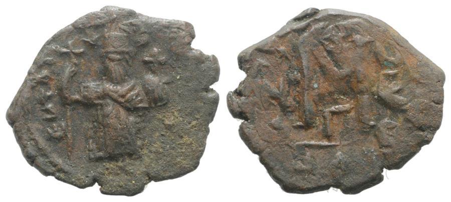 Ancient Coins - Constans II (641-668) AE Follis  40 Nummi. Constantinople