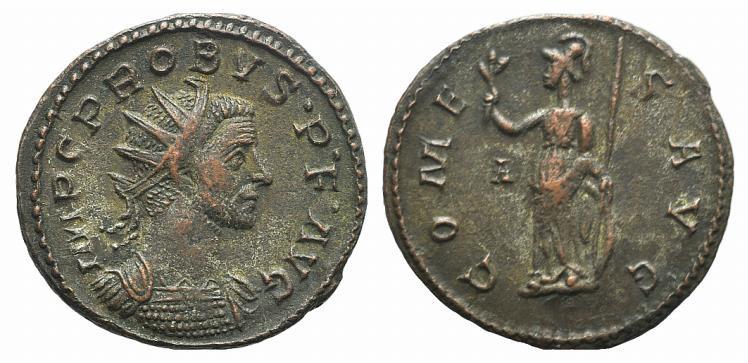 Ancient Coins - Probus (276-282). Radiate. Lugdunum, 282.  R/ Minerva