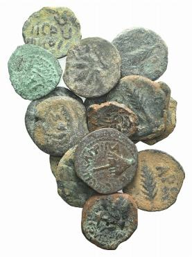 Ancient Coins - Judaea, lot of 17 Æ coins, to be catalog. LOT SOLD AS IS, NO RETURNS