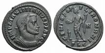 Ancient Coins - Galerius. AD 305-311. Æ Follis. Lugdunum (Lyon) mint. R/ GENIO