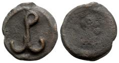 Ancient Coins - Romanus IV? (1068-1071). Æ - Cherson - Pω monogram / Cross