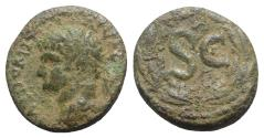 Ancient Coins - Domitian (81-96). Seleucis and Pieria, Antioch. Æ 21mm. R/ Large SC