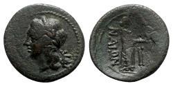 Ancient Coins - Sicily, Katane, late 3rd - early 2nd century BC. Æ Dichalkon - Apollo / Aphrodite